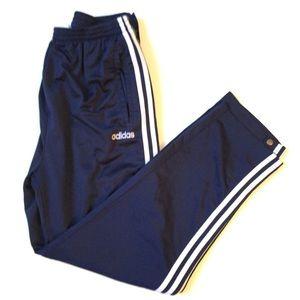 Vintage Adidas warm up pants striped pull off lrg
